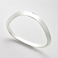 Bracelet Rigide en Argent Stylisé